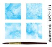 set of watercolor background. | Shutterstock . vector #169744541