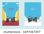 playing string instruments in... | Shutterstock .eps vector #1697467357