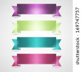 colorful ribbons set | Shutterstock .eps vector #169747757