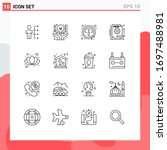 16 thematic vector outlines and ...   Shutterstock .eps vector #1697488981