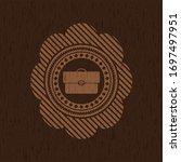 briefcase icon inside badge... | Shutterstock .eps vector #1697497951