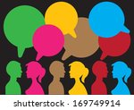 communication between the two... | Shutterstock .eps vector #169749914
