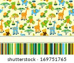 baby greeting card or invitation | Shutterstock . vector #169751765