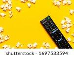 Black Tv Remote Control And...