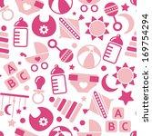 kids pink seamless pattern | Shutterstock .eps vector #169754294