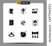 set of 9 modern ui icons...