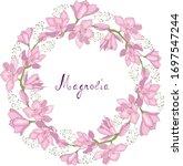 flowers of magnolia for gift... | Shutterstock .eps vector #1697547244