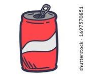 simple hand drawn cartoon cola...   Shutterstock .eps vector #1697570851