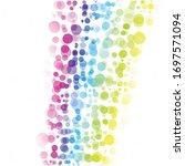 bubbles circle dots unique...   Shutterstock .eps vector #1697571094