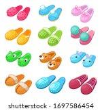 home footwear   pairs slippers  ...   Shutterstock .eps vector #1697586454