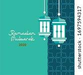 ramadan mubarak poster banner... | Shutterstock .eps vector #1697594317
