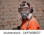 Builder Wearing Full Face...
