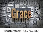 grace written in vintage... | Shutterstock . vector #169762637