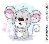 cute cartoon mouse. vector...   Shutterstock .eps vector #1697637364