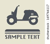 scooter icon or sign  vector... | Shutterstock .eps vector #169766117