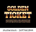 vector chic logo golden ticket. ...   Shutterstock .eps vector #1697661844