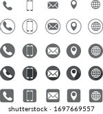 contact information icons ... | Shutterstock .eps vector #1697669557