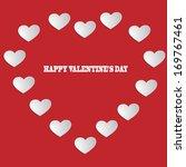 valentines day background  | Shutterstock .eps vector #169767461