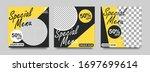 social media banner for food... | Shutterstock .eps vector #1697699614