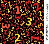 red 123 number background... | Shutterstock .eps vector #1697706631