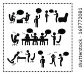 people talking symbol on white... | Shutterstock .eps vector #169772081