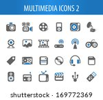multimedia icons 2. | Shutterstock .eps vector #169772369