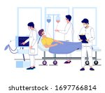 doctors using iv fluid and...   Shutterstock .eps vector #1697766814