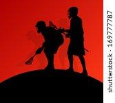 lacrosse players active men... | Shutterstock .eps vector #169777787