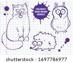 Cute Hand Drawn Cartoon Cat ...
