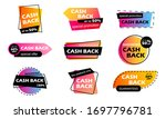 cash back sale colorful banners....   Shutterstock .eps vector #1697796781