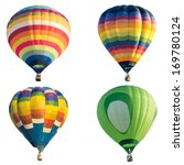 colorful hot air balloon... | Shutterstock .eps vector #169780124