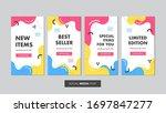 set of editable sale banner...   Shutterstock .eps vector #1697847277