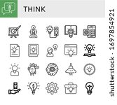 set of think icons. such as... | Shutterstock .eps vector #1697854921