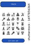 trick icon set. 25 filled trick ... | Shutterstock .eps vector #1697856364