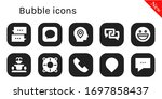 bubble icon set. 10 filled...