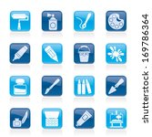 painting and art object icons   ... | Shutterstock .eps vector #169786364