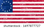 Grungy Betsy Ross American Flag ...