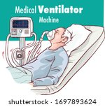 ventilator medical machine...   Shutterstock .eps vector #1697893624