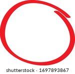 red circle pen draw. highlight... | Shutterstock .eps vector #1697893867