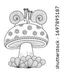 Adult Doodle Coloring Book Page ...