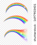colored transparent rainbow.... | Shutterstock .eps vector #1697903401