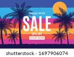 abstract sale background with... | Shutterstock .eps vector #1697906074