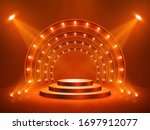 podium with lighting. stage ...   Shutterstock .eps vector #1697912077