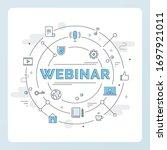 internet technology and... | Shutterstock .eps vector #1697921011
