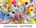 plastic bottles and containers...   Shutterstock . vector #169794539