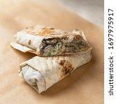 Doner Kebab Shawarma Cut With...