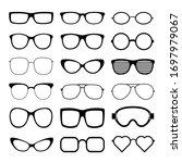 sunglasses icon set vector... | Shutterstock .eps vector #1697979067