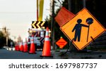 Lane Closure On A Busy Road Due ...