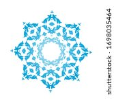 circle snowflake ornaments.... | Shutterstock .eps vector #1698035464