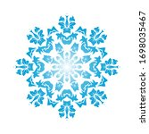 circle snowflake ornaments.... | Shutterstock .eps vector #1698035467